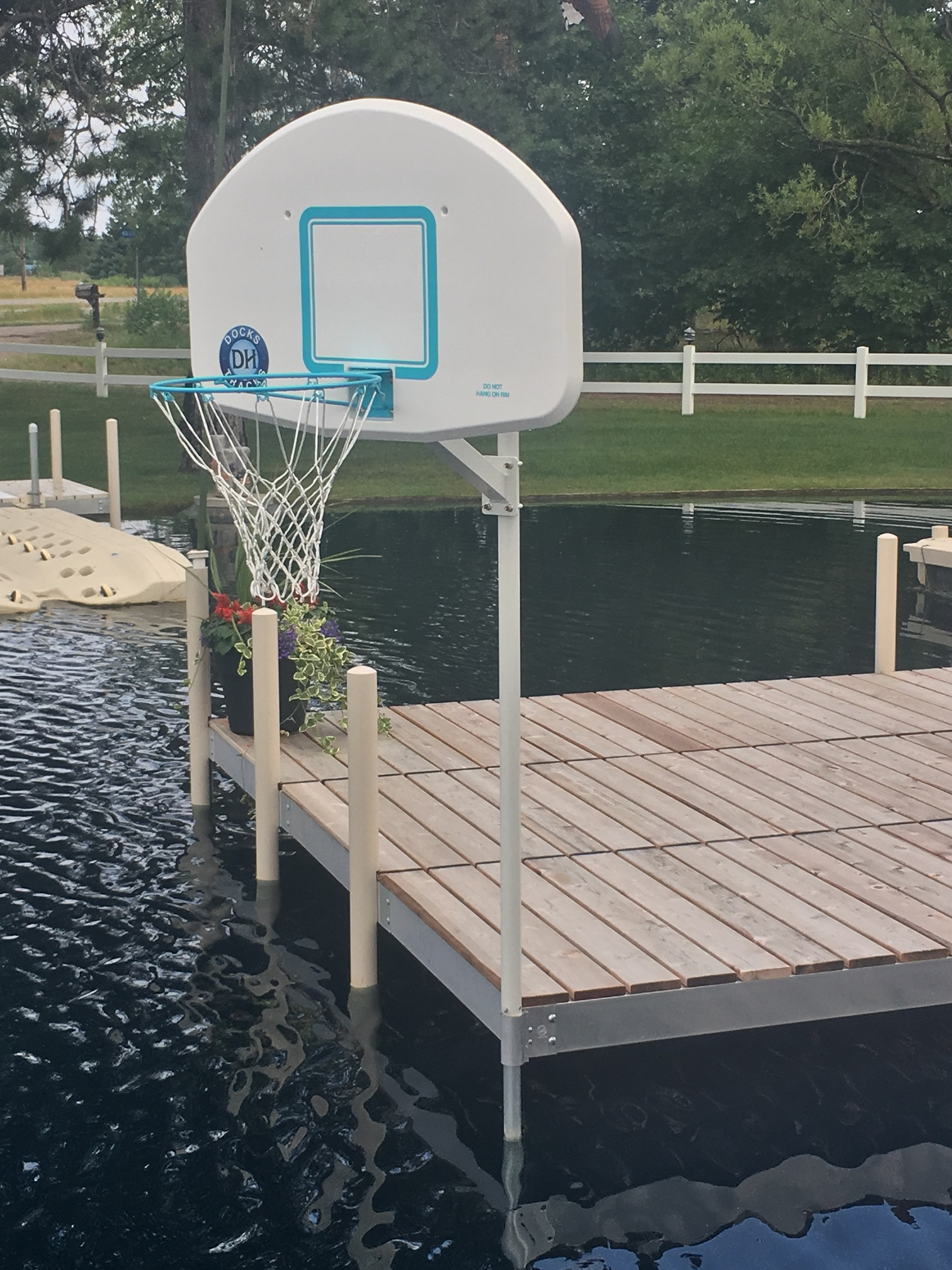 Dock Basketball Hoop System